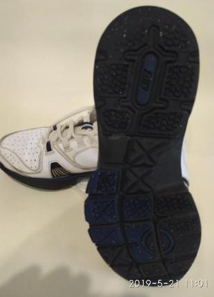Детские кожаные кроссовки nike edge, стелька 24 см