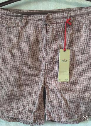 Мужские пляжные шорты next  resortwear 50/52 р-р