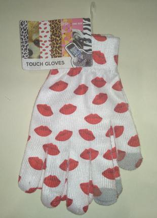 Сенсорные перчатки с ярким принтом cookie company touch gloves