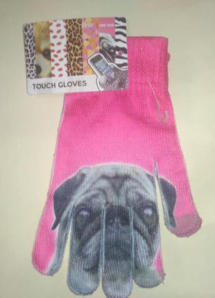 Женские перчатки для сенсорных экранов touch gloves.