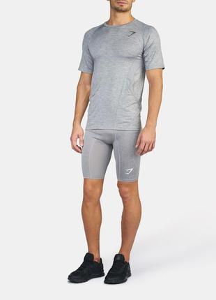 Мужская футболка apex t-shirt gymshark, l, xl