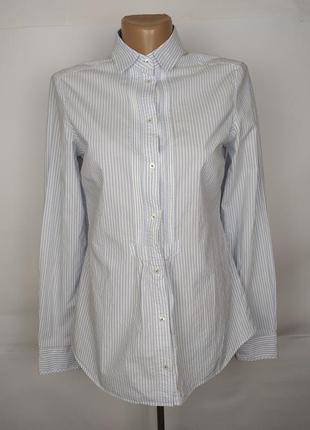 Блуза рубашка голубая красивая в полоску оригинал massimo dutt...