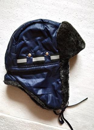 Теплая шапка-ушанка для мальчика, зимняя шапка