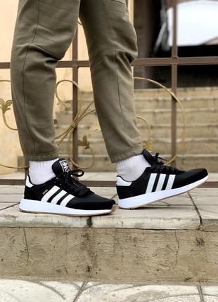 Мужские кроссовки adidas iniki black, весна-осень