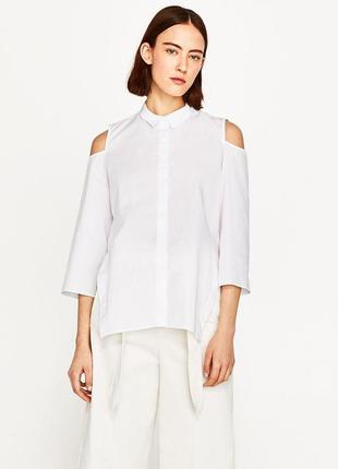 Zara рубашка с открытыми плечами