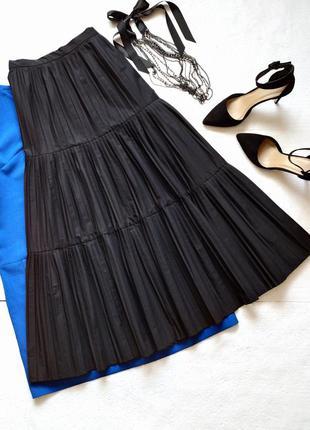 Роскошная длинная юбка плиссе, гофре, плиссированная юбка