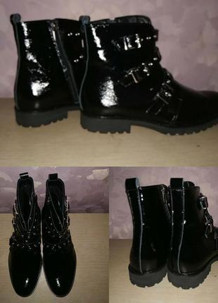 Ботинки 42-43 р лаковые