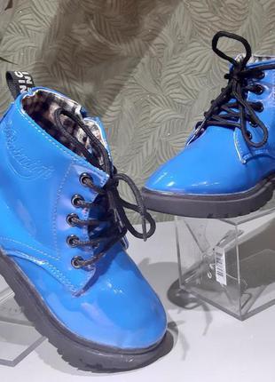 Сапожки ботиночки детские для девочки демисезонные dinimigi 31р