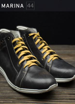 Мегастильні чоловічі шкіряні черевики san marina р-44