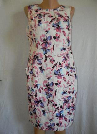 Новое платье лен с принтом