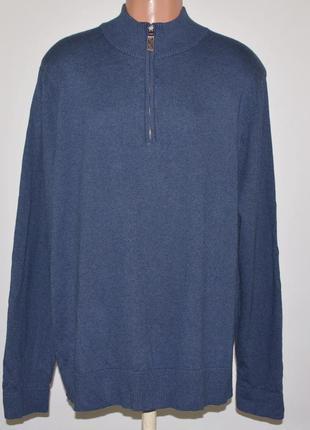 Брендовый свитер eddie bauer cotton cashmere (xl) сша хлопок\к...