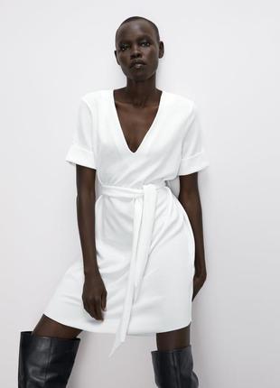 Новое базовое платье zara с бирками новая колекция размер m-l