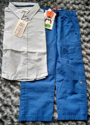 Комплект:рубашка name it и брюки cool club, размер 98