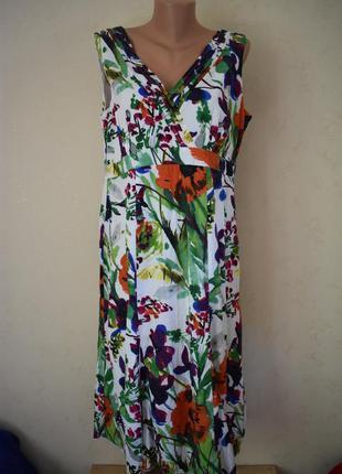 Натуральное платье с принтом большого размера per una