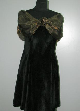 Woman collection ретро маленькое черное бархатное платье винтаж