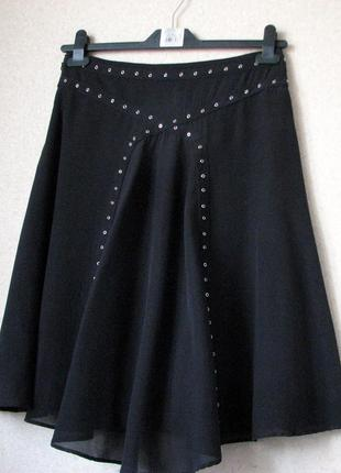 #allsaints  черная  юбка шелк