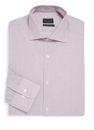 Pal zileri италия кремово розовая рубашка в полоску