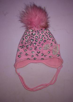 Шапка+шарфик для девочки