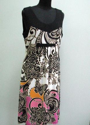 Платье с бабочками италия трикотаж