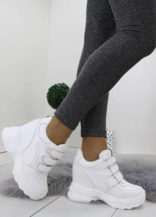 Белые кроссовки на платформе,белые кроссовки на танкетке,белые...