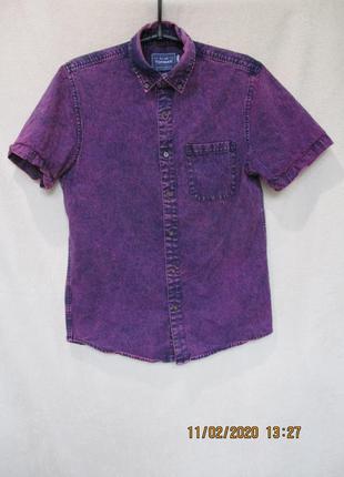 Джинсовая рубашка варенка/короткий рукав
