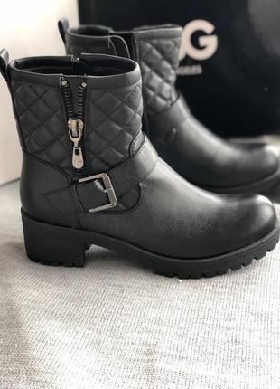 Черные ботинки деми новые бренд guess