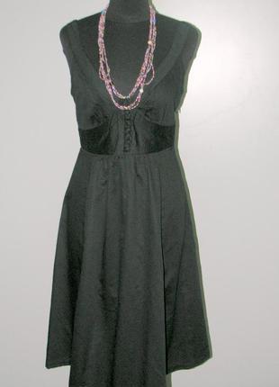 Замечательное черное легкое платье -сарафан индия батист  р 36