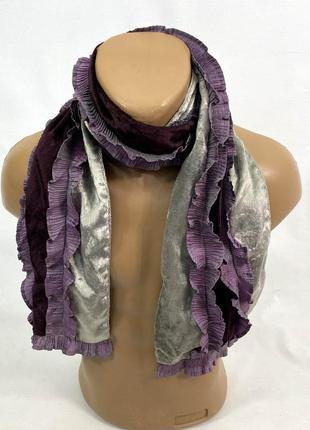Шарф стильный, легкий фиолетовый