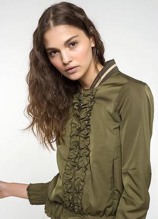 Patrizia pepe куртка бомбер  хаки