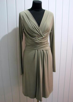 Качественное трикотажное платье длинный рукав италия