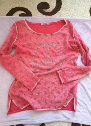 Шерстяной свитер шерсть +кашемир