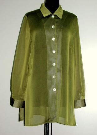 Christine laure дизайнерская блузка туника натуральный шифон о...