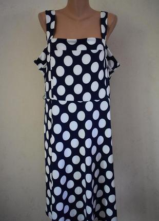 Новое красивое платье в горошек