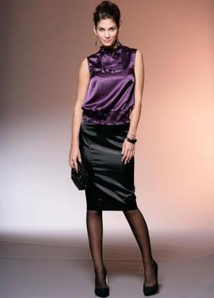 Атласная юбка карандаш