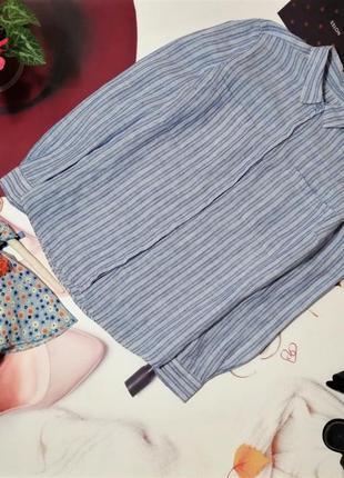 Рубашка marks&spencer, 100% лен, размер 14/42