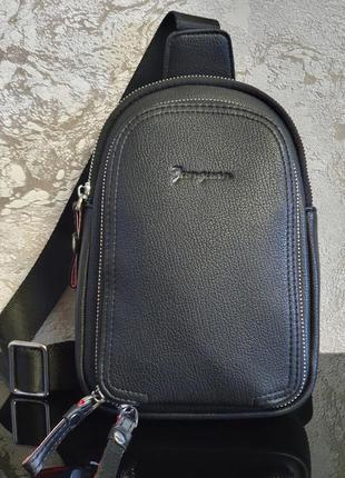 Стильная мужская сумка-рюкзак на одно плечо - cross body