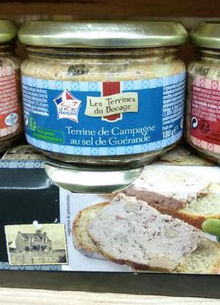 Французский мясной паштет террин