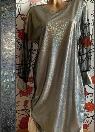 Шикарное платье-двойка 50р