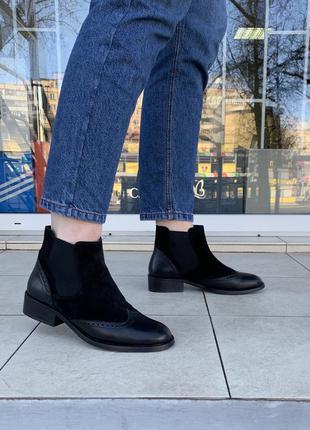 Ботинки челси zign оригинал португалия натуральная кожа замша