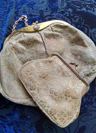 Винтажная сумка + кошелек