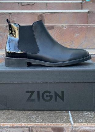Ботинки zign оригинал португалия натуральная кожа