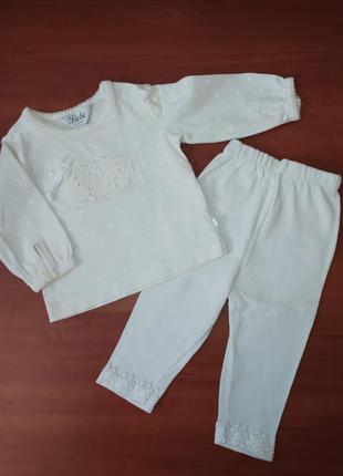 Белый костюмчик для малышки