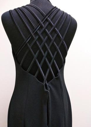 Черное дизайнерское платье с разрезом бомба!  магия!