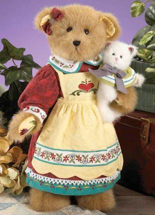 Игрушка плюшевая медведица с котенком США Boyds Collection