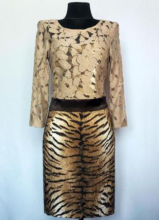 Стильное платье, тигровый принт. турция. новое, р-ры 42-46