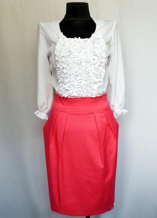 Стильное платье, комбинированный фасон. турция. новое, р-р 44-46