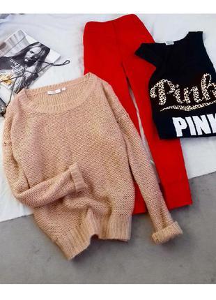Вязаный свитер с люрексовой нитью