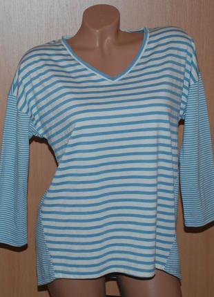 Блуза бренда bonmarche /ассиметричная полоска/ приспущены плечи/