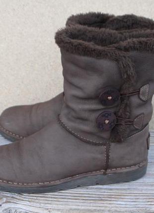 Угги pure нубук (кожа) англия 39 р ботинки сапоги зимние
