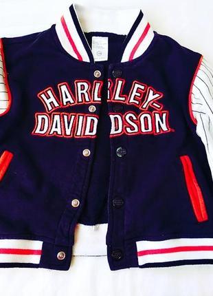 Harley davidson бомбер на 1-2 года